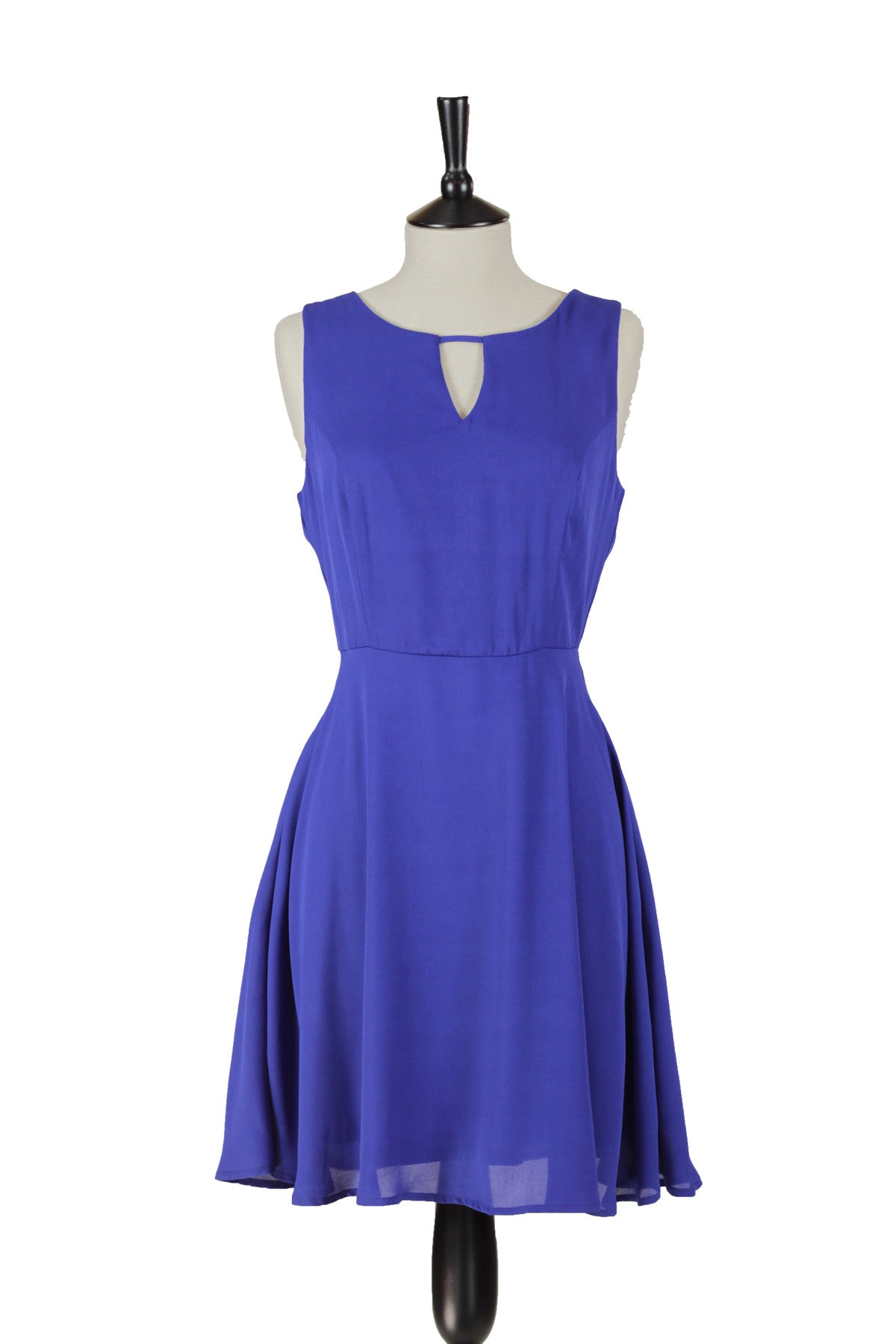 Giada Sleeveless A-Line Dress - Blue