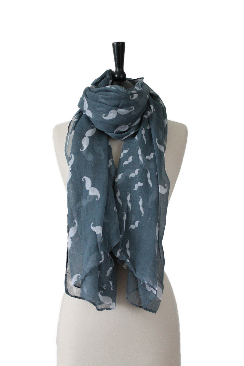 The Moustache Scarf (Multi colours)