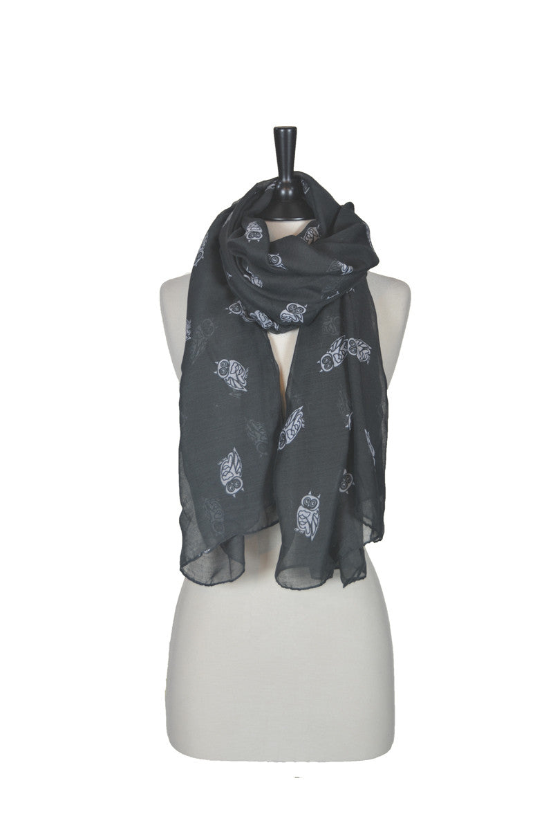 The Owl Scarf - Black