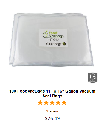 gallon vacuum seal bags