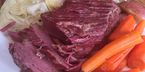 St Patty Patrick Corned Beef Cabbage Potatoes Carrots Instant Pot recipe