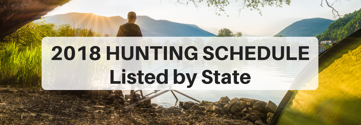 2018 hunting season schedule by state