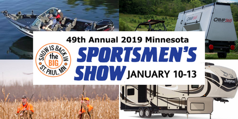 Sportsmen's Show Jan 10th- 13th in St. Paul, MN camping fishing boating outdoors