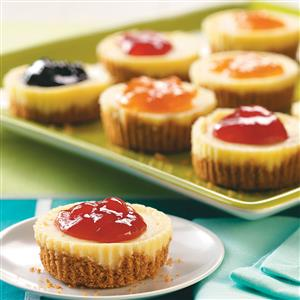 homemade mother's day treat mini jam topped cheesecakes