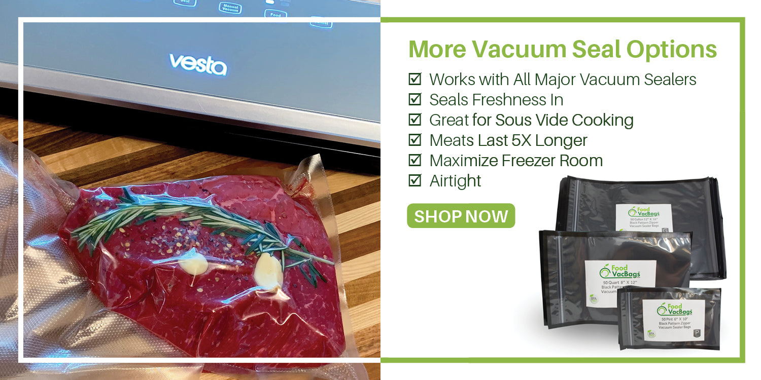 Vacuum Sealer | Sous Vide | FoodSaver Compatible | Meats Last 5X Longer | Airtight