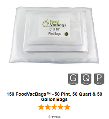 vacuum seal bags holiday sealing food storage pint quart gallon