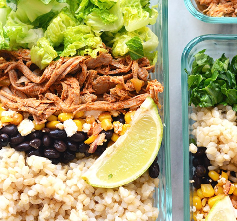 meal prep idea cornita fajita bowl