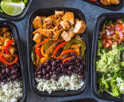 meal prep ideas chicken fajita bowls