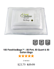 sous vide vacuum seal bags combo pint quart gallon