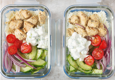 meal prep greek chicken bowl