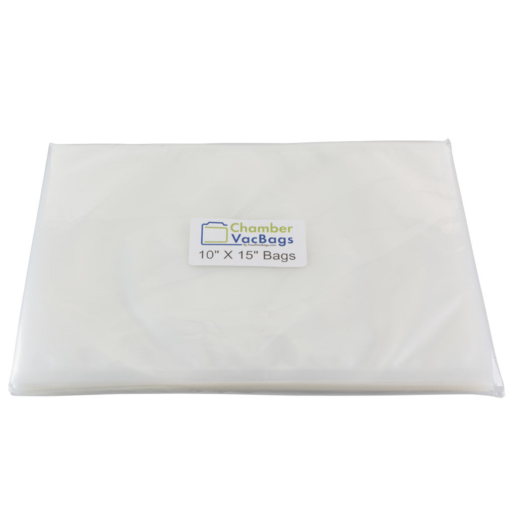 10x15 ChamberVacBags 3 mil Chamber Sealer Pouches bags, VacMaster Compatible