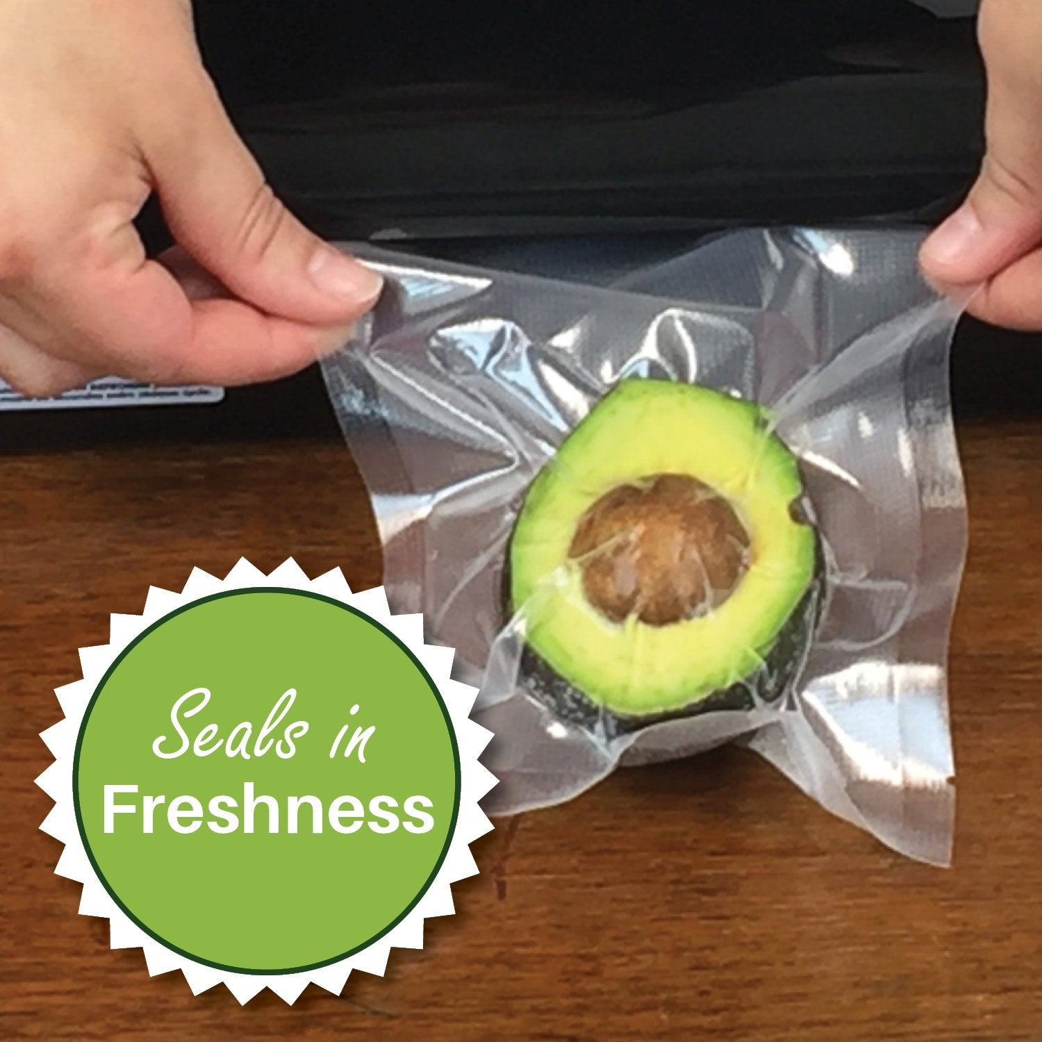 seals in freshness - airtight - foodsaver compatible - vacuum seal bags