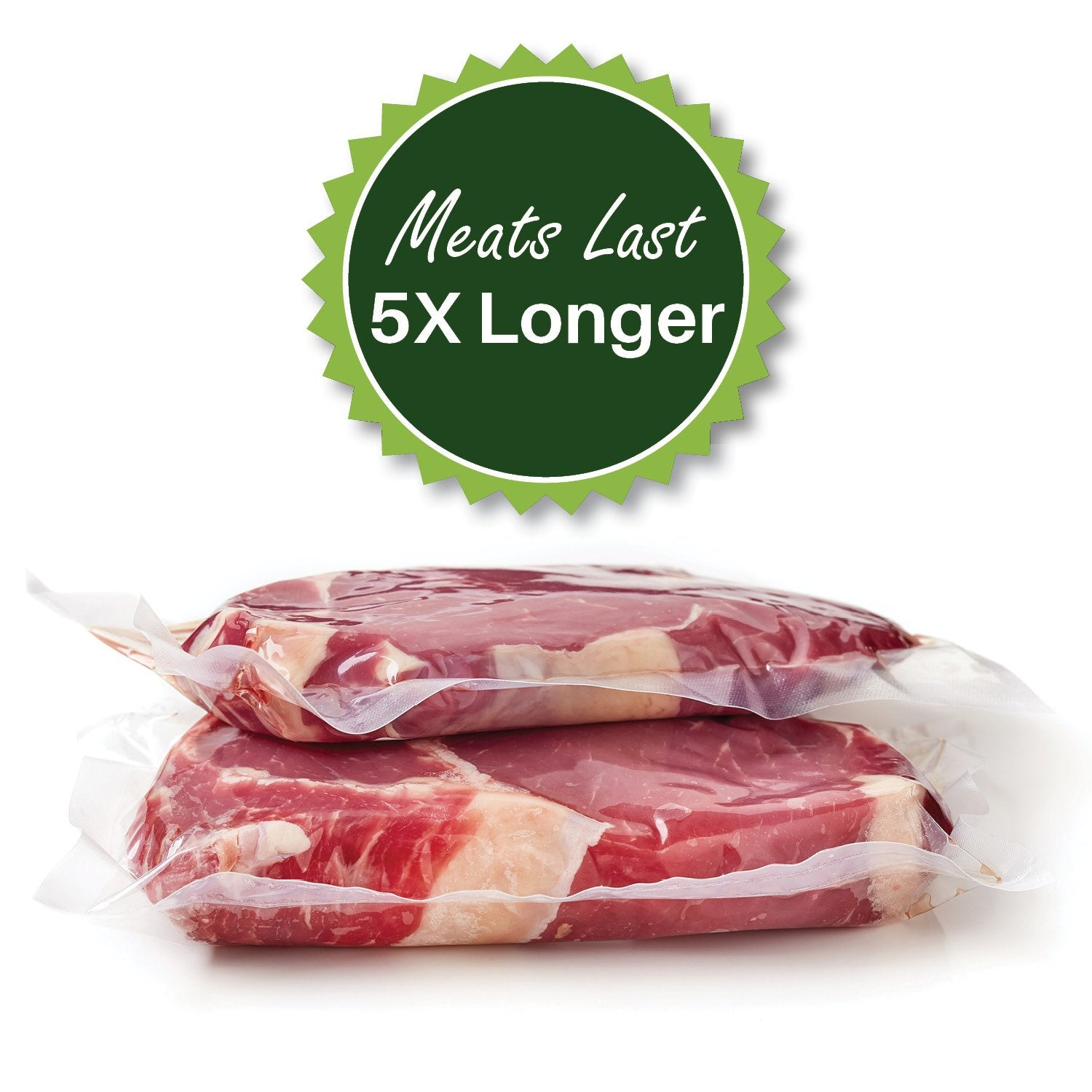 meats last 5X longer - sous vide cooking - airtight - foodsaver compatible - vacuum seal bags