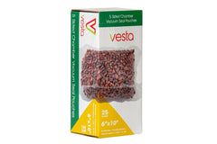 "Vesta 5 sided Chamber Vacuum Pouches - 6""x10""x2.17""  25 Per Box"