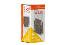 "Vesta 8 sided Chamber Vacuum Pouches - 6""x10""x2.17""  25 Per Box"