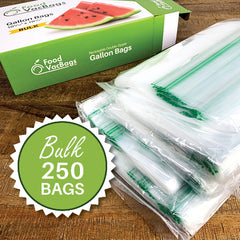 Double Zipper Ziploc Reclosable Bags Gallon Bulk 500 Bags