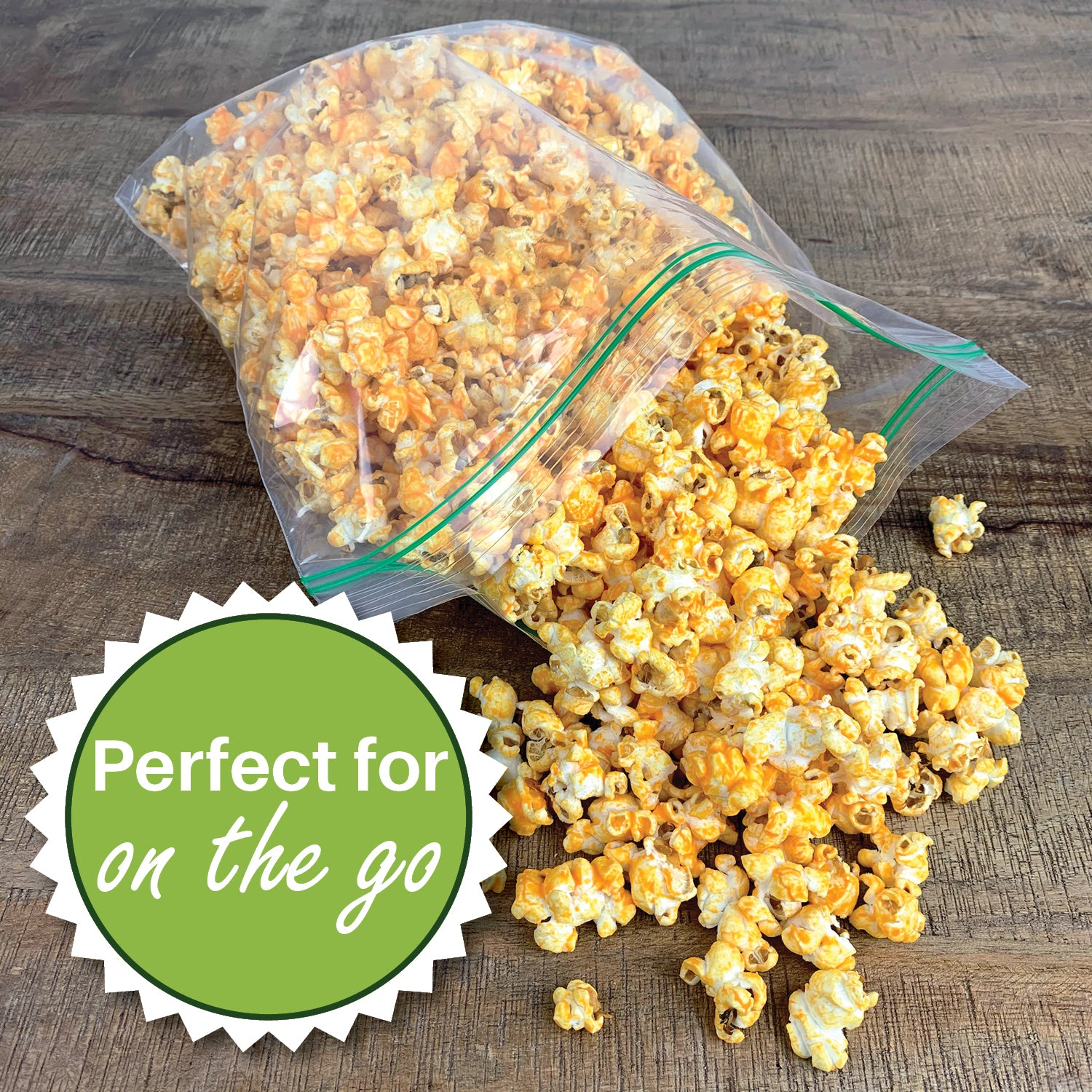perfect for on the go, double zipper food storage bags
