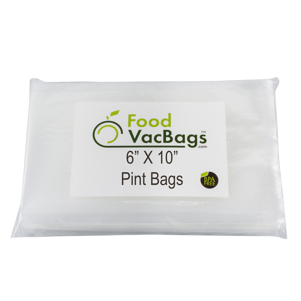 "200 FoodVacBags™ 6"" X 10"" Pint Bags (for photo only)"