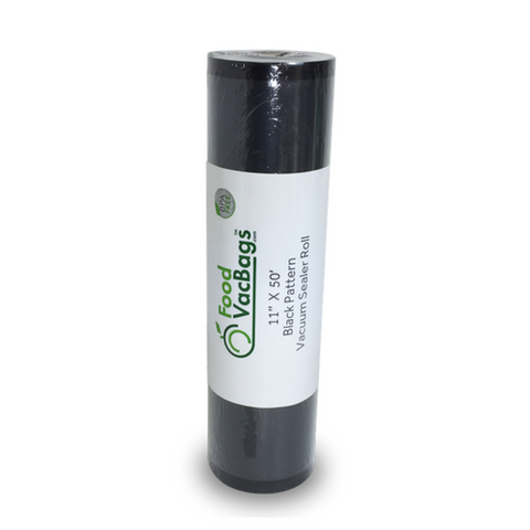 "Black and Clear Vacuum Sealer Rolls 11"" x 50'"