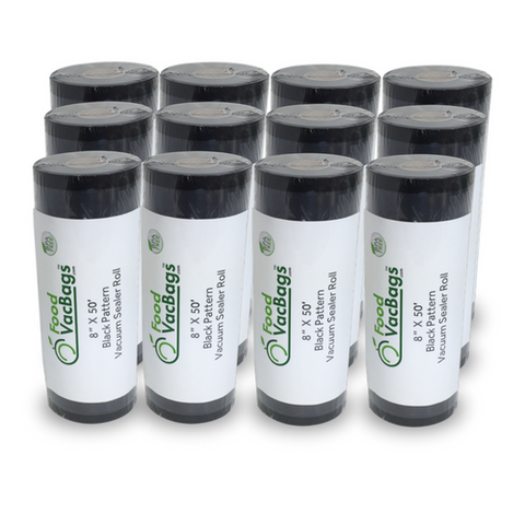 12 black & clear vacuum packaging rolls