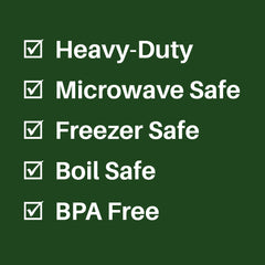 FoodVacBags are Heavy-Duty, Microwave Safe, Freezer Safe, Boil Safe & BPA Free!