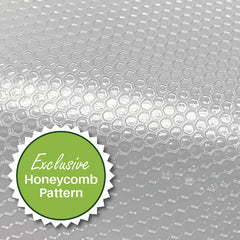 FoodVacBags have an Exclusive Embossed Honeycomb Pattern