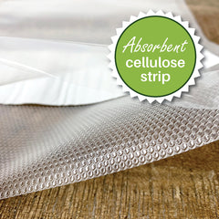 Liquid Block with absorbent cellulose strip for Foodsaver