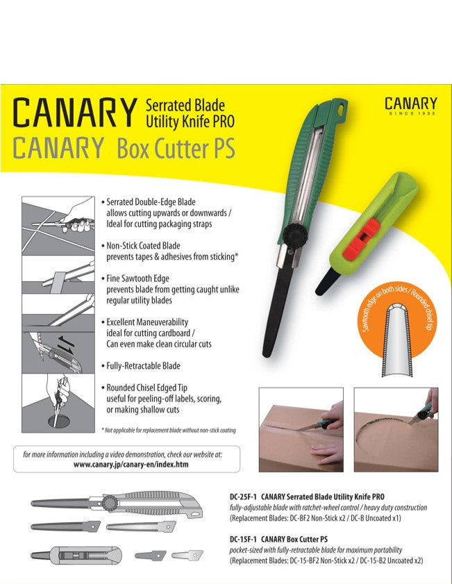 Canary™ Pro Serrated Utility Knife Replacement Blades - 2 pack