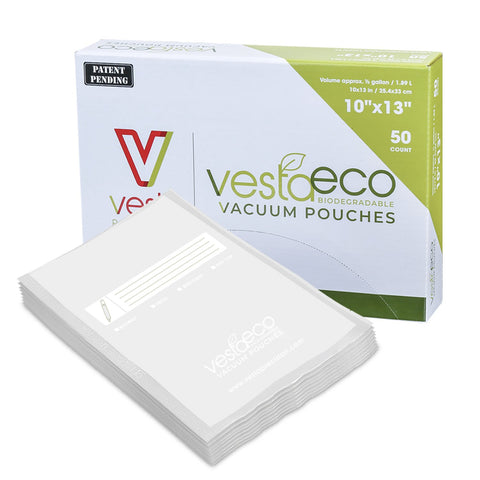 "10"" x 13"" Gallon VestaEco Biodegradable Chamber Bags - 50 count"