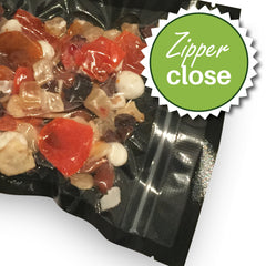 "Case of 1000 FoodVacBags 6"" X 10"" Zipper Pint Bags - Black & Clear"