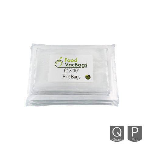 Bags - 200 FoodVacBags -  100 Pint & 100 Quart Bags - FoodSaver Compatible - Sous Vide