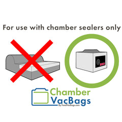 For use with chamber vacuum sealers only