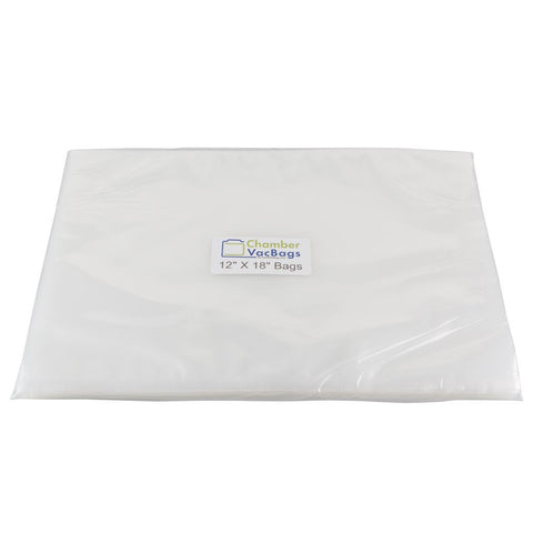 "Chamber Sealer Pouches - 12"" X  18"" ChamberVacBags 3mil Chamber Sealer Pouches"