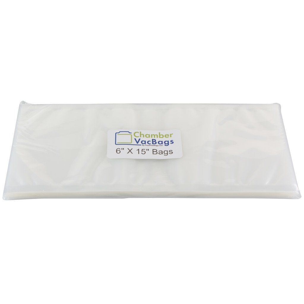 "Chamber Sealer Pouches - 6"" X 15"" ChamberVacBags 3mil Chamber Sealer Pouches"