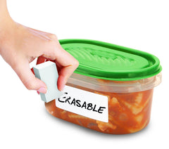 Erasable Food Labels And Eraser, 70 Ct