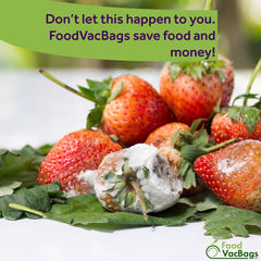 Stop Food Spoil, Food Waste with FoodVacBags Vacuum Sealer Bags and Rolls