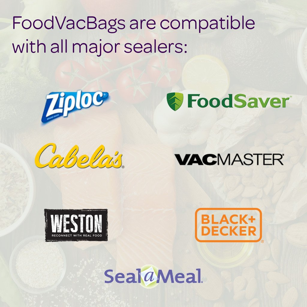 Compatible with Ziploc, FoodSaver, Cabela's, VacMaster, Weston, Seal-A-Meal, and BlackNDecker
