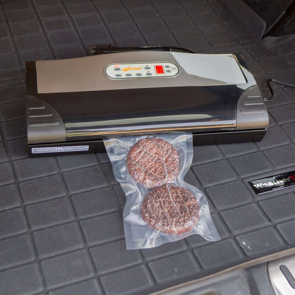 Weston vacuum sealer used in a truck