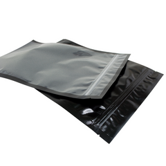 "Zipper Bags - 50 FoodVacBags 11"" X 16"" Zipper Gallon Bags - Black & Clear - airtight - foodsaver compatible"