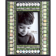 "ZET 005 Mosaic Picture Frame 4"" x 6"" Peridot Vine"