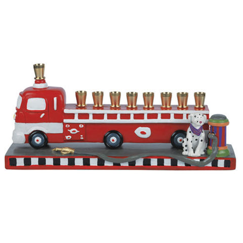AVI 002 Firetruck Menorah 23980
