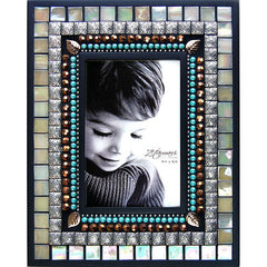 "ZET 008 Mosaic Picture Frame 4"" x 6"" Pearl"