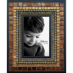 "ZET 002 Mosaic Picture Frame 4"" x 6"" Toffee Silk"