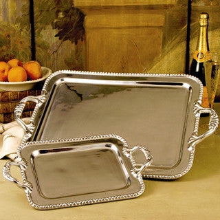 Pewter PEARL david tray (large)