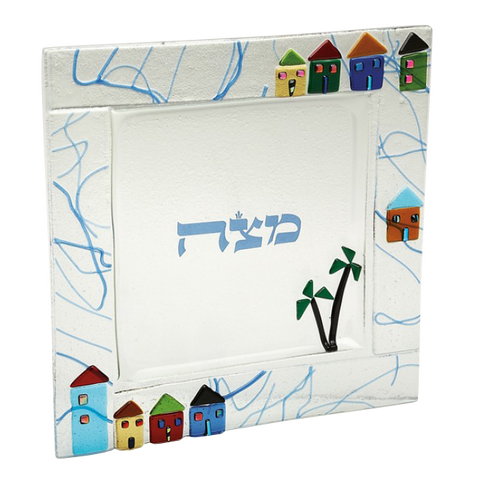 TB 020 Houses Matzah Tray 430