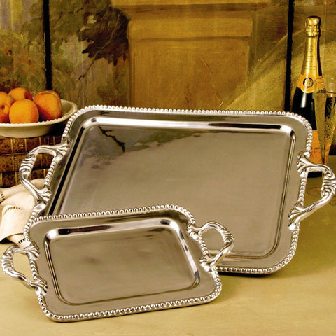 Pewter PEARL david tray (extra large)