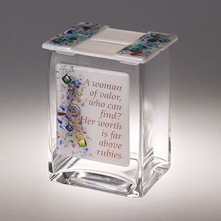 BEA 051 Woman of Valor Tzedakah Box TA3