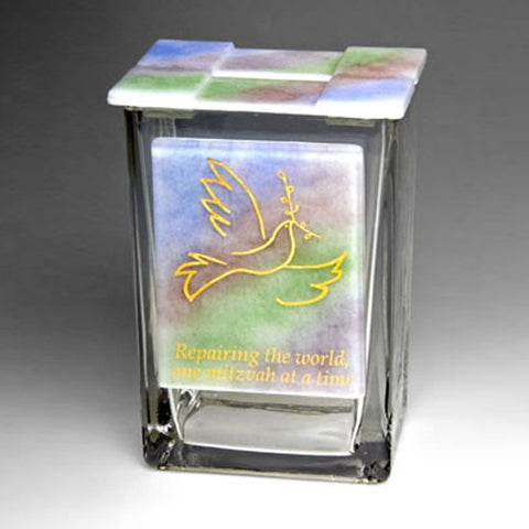BEA 044 Dove Rainbow Tzedakah Box TA7