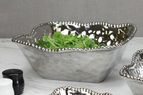 PB 006 Verona Porcelain Medium Square Salad Bowl 2252