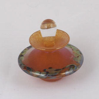 ART 010 Flat Perfume Bottle Orange Monet 505